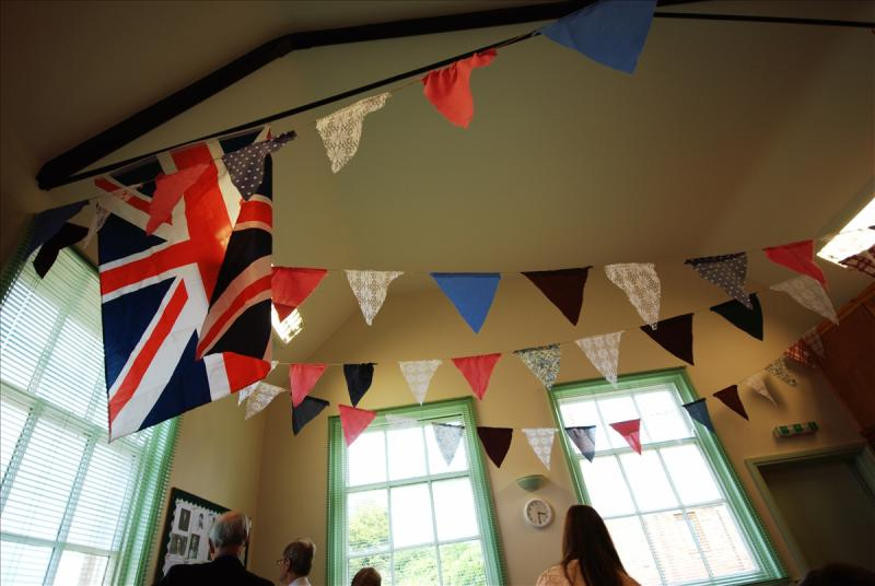 Jubilee bunting at Valley Christian Fellowship, Harby